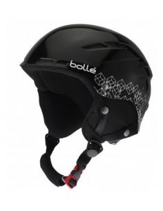 Casque de Ski Bollé B-Rent Shiny Black Silver Taille 58/61cm Réglable Home