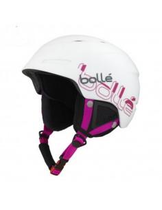 Casque de Ski Bollé B-Yond Soft White Pink Taille 58/61cm à molette Home