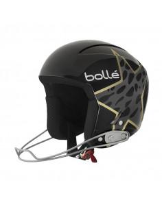 Casque de Ski FIS Bollé Podium Shiny Black And Cheetah Star Taille 58cm Home
