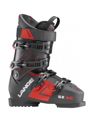 Chaussures de ski Neuves Lange SX 90 Noire Rouge 2018 Taille 30.5 Mondopoint Accueil
