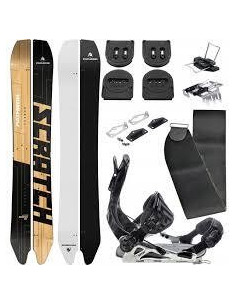 Pack Splitboard Pathron Scratch Split Taille 161cm, 165cm + Fix + Peaux + Voilé Home