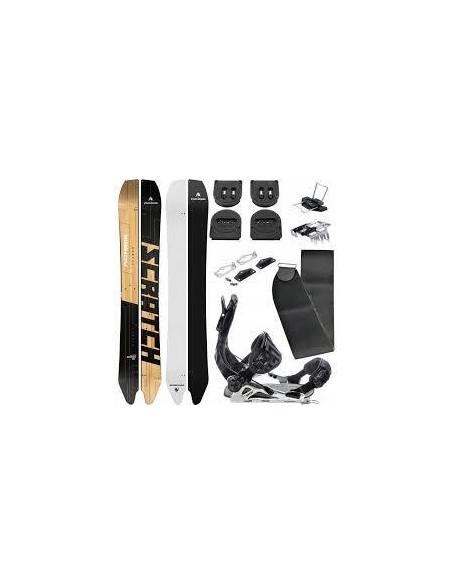 Pack Splitboard Pathron Scratch Split Taille 161cm, 165cm + Fix + Peaux + Voilé Home