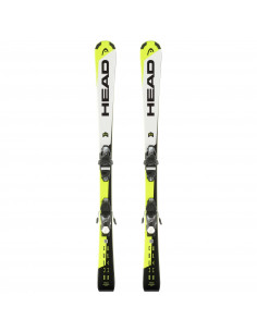Pack Ski Junior Head Supershape Yel/Bl/Wh 2019 Taille 127cm avec fix Home