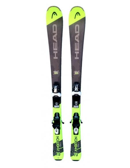 Mini ski Adulte Head Ambition 75 2020 Taille 130cm, 140cm, 150cm + Fix Tyrolia Home