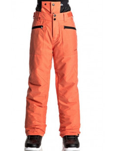 Pantalon Ski/Snow Quiksilver Boundry Youth Mandarin Red Accueil