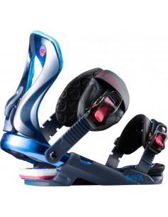 Fixations de snowboard Neuves Rossignol Diva Blue 2019 femme Taille S/M(38/41) Accueil