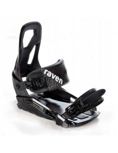 Fixations de snowboard Raven S200 Black Taille S/M(de 37 à 41), M/L(de 40 à 45) Home