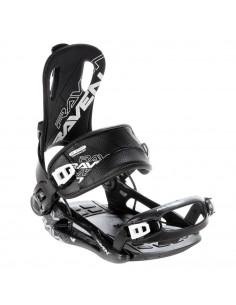 Fixations de snowboard Systeme Flow Raven FT270 Black Taille S(35 à 40), M(39 à 42), ( L(43 à 46), XL(44 à 47) Accueil