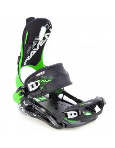 Fixations de snowboard Systeme Flow Raven FT270 Green Taille M(39 à 42), L(43 à 46), XL(44 à 47) Accueil