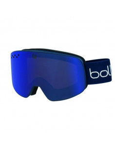 Masque de ski Bollé Nevada Matte Black Grey Diagonal S1 Vermillon Blue Home